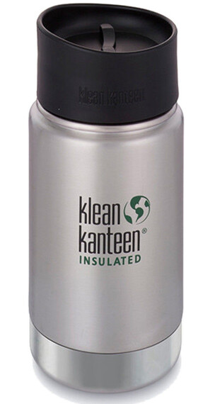Klean Kanteen Insulated Wide Café Bottle 12oz (355 ml) Brushed Stainless